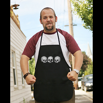 Pirate Apron - Black - Three Skull