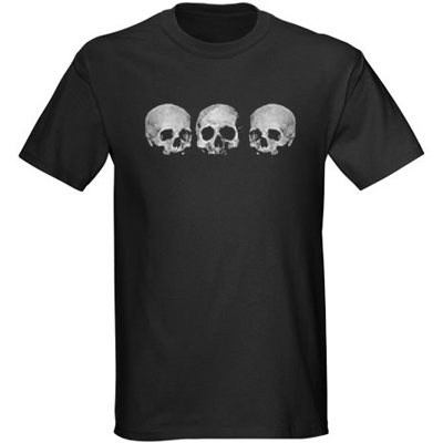 Kids' Pirate Shirt - Three Skull - Black