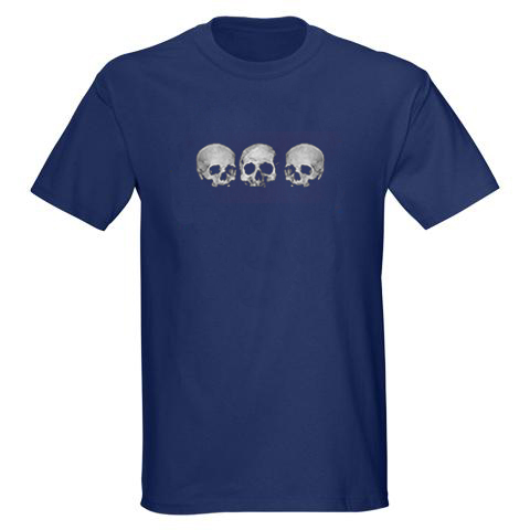 Three Skull - Men's T-Shirt - Navy Blue