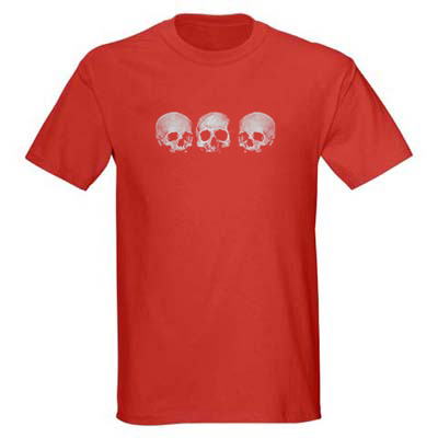 Three Skull - Men's T-Shirt - Red