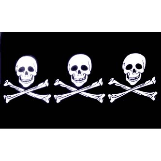 Pirate Flag - 3 Skull & Crossbones