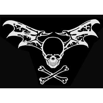 Pirate Sticker - Batwing Skull and Bones
