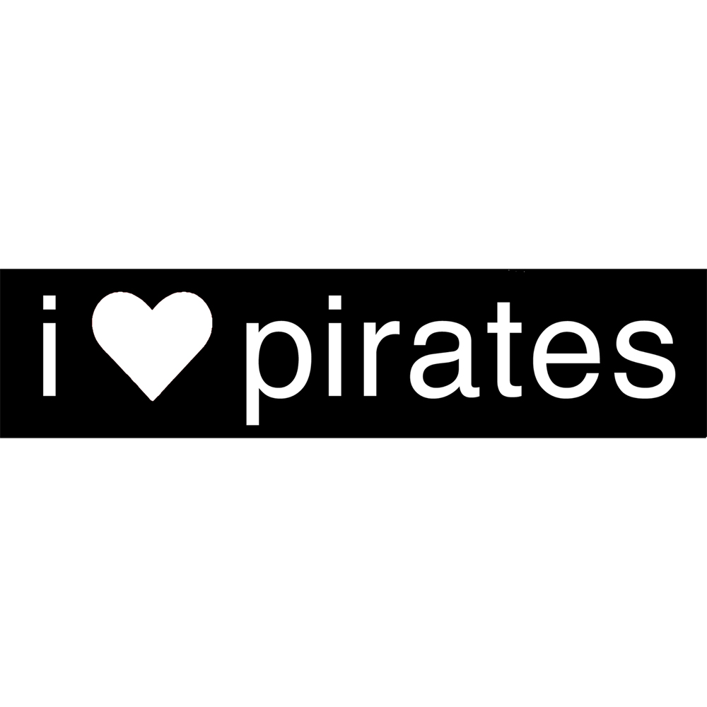 "Pirate Sticker - I ""Heart"" Pirates"