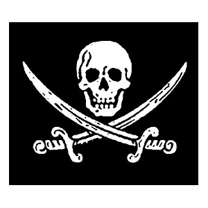 Pirate Sticker - Jack Rackam Jolly Roger