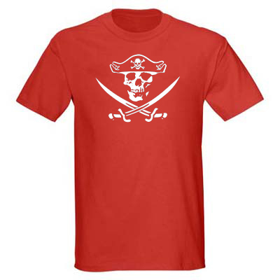 Jolly Roger 2 Men's T-shirt - Red