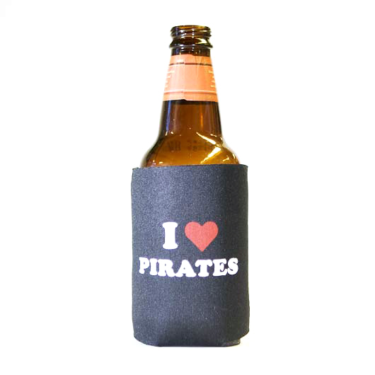 (Koozie) I Heart Pirates - 6 Pack