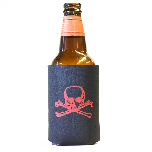 (Koozie) Red Skull & Bones - 6 Pack
