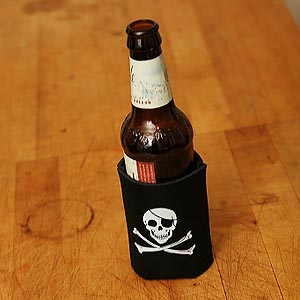 (koozie) Original Jolly Roger - 6 Pack