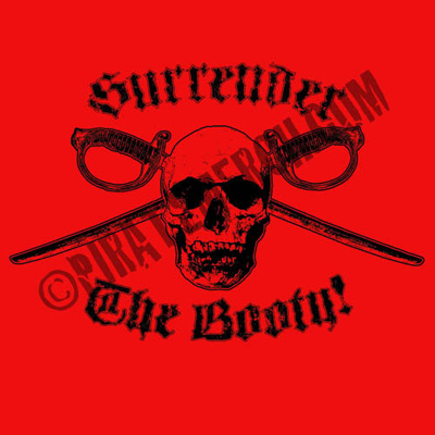 Surrender The Booty Red Men's T-Shirt