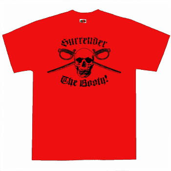 Kids Pirate Shirt - Surrender The Booty Red