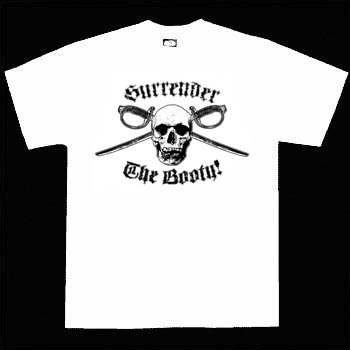 Kids Pirate Shirt - Surrender The Booty White