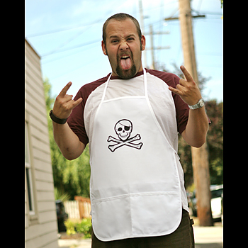 Pirate Apron - White