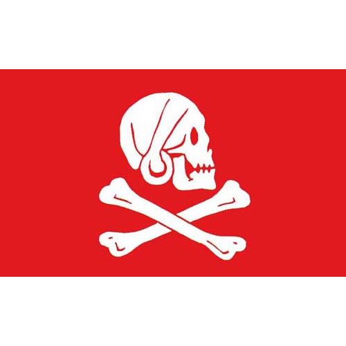 Pirate Flag - Red Henry Avery
