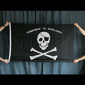 Pirate Flag - Commitment to Excellence