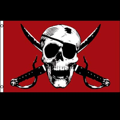 Pirate Flag - Crimson Pirate