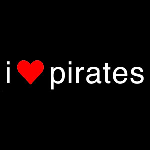 I 'Love' Pirates - Ladies Pirate Shirt