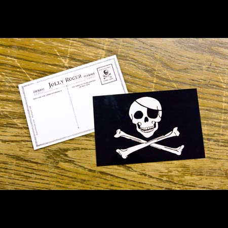Pirate Postcard - 25 x Jolly Roger