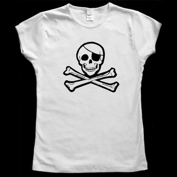 Jolly Roger Baby Doll T-Shirt