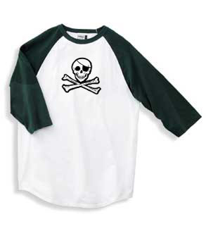 3/4 Length Jolly Roger Shirt