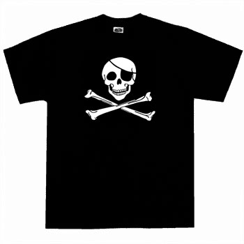 Kids Pirate Shirt - Original Jolly Roger