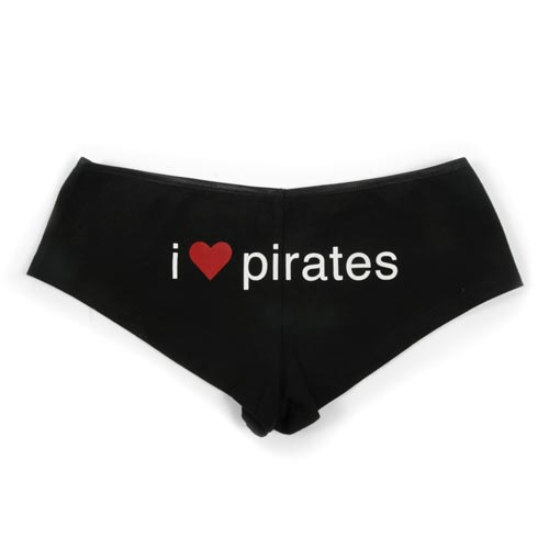 I 'Love' Pirates Booty Shorts - Sexy Panties