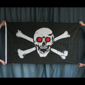 Pirate Flag - Red-Eyed Skull
