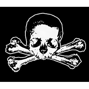 Pirate Sticker - Skull & Bones