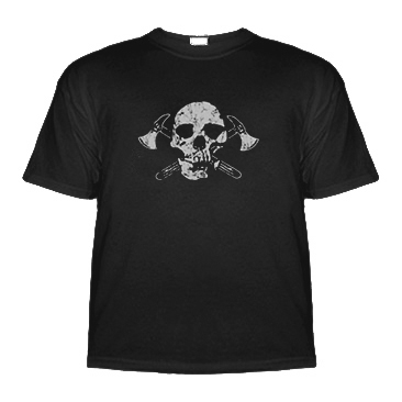 Kids Pirate Shirt - Skull & Axes