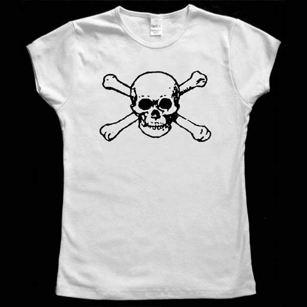 Skull and Bones Baby Doll T-Shirt