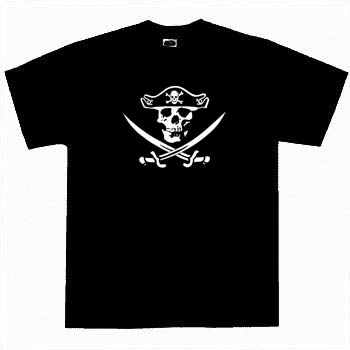 Kids Pirate Shirt - Jolly Roger 2 Tee Shirt