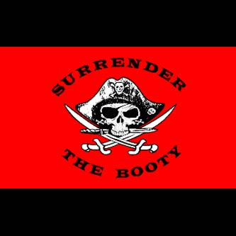 Pirate Flag - Surrender the Booty - Red