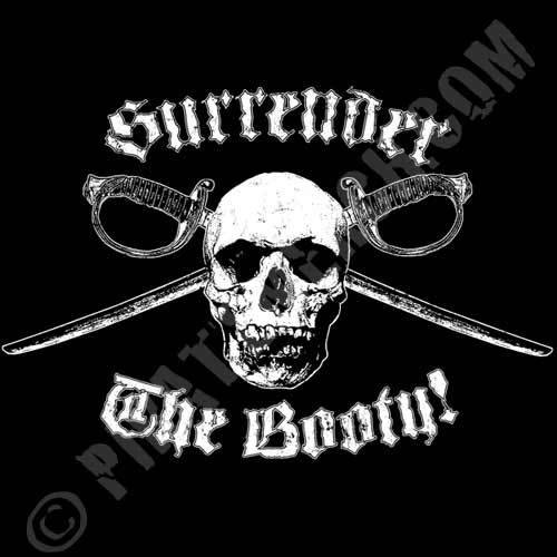 Surrender The Booty Ladies Pirate Shirt