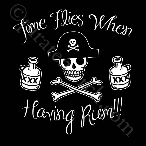 Time Flies When Having Rum Womens T-shirt