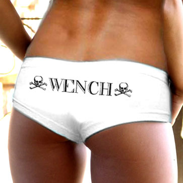 Wench Booty Shorts - White Sexy Panties